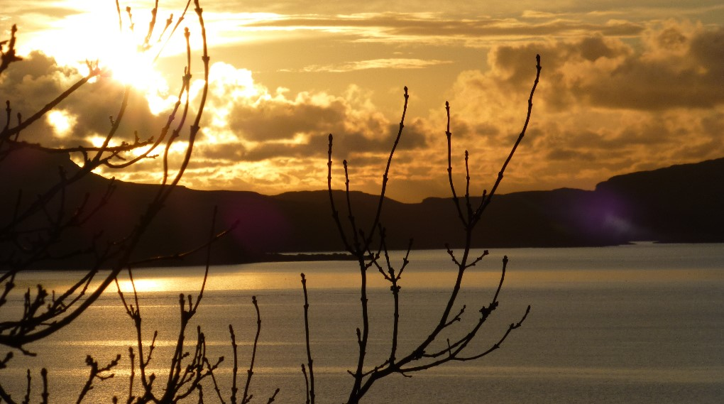 A golden sunset on Mull