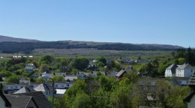 another lovely view from the Tobermory room over the rooftops of the town below.