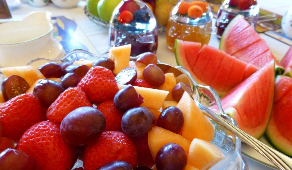 Fresh fruits and homemade jams