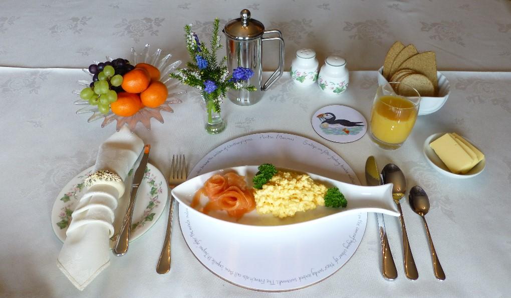 Tobermory smoked salmon and scrambled eggs