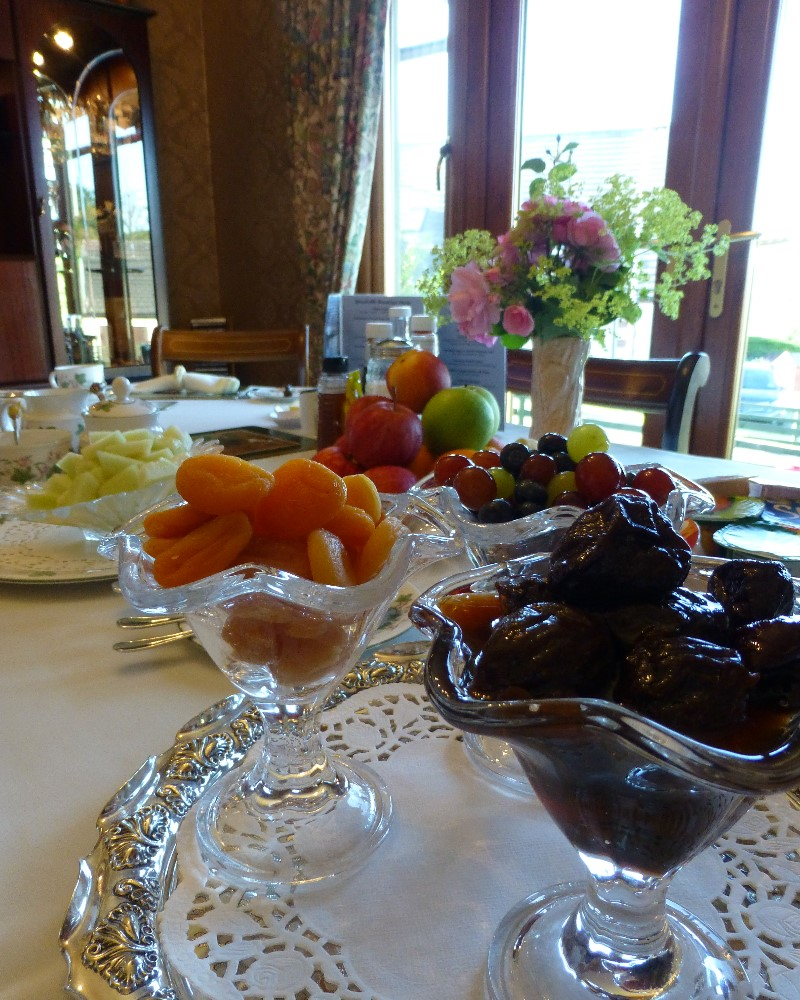 Help yourself to fruits from our breakfast table